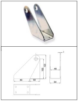 brat frontal din aluminiu - permite fixarea cilindrului de toc si rotatia cilindrului la deschidere