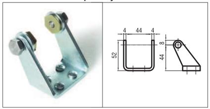 Brat metalic culisant de fixare pentru sisteme mono