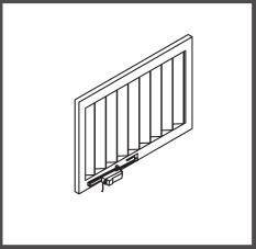 Montaj pe lamele solare verticale cu brat culisant