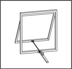 Montaj pe ferestre fara pervaz cu brat culisant
