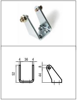 Brat metalic de capat (inclus)