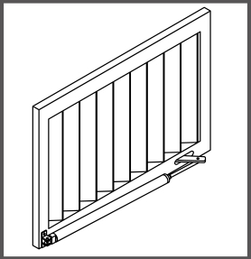 Montaj pe lamele solare verticale