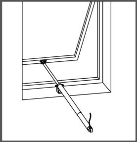 Montaj pe fereastra cu pervaz si balama superioara